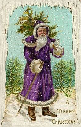 Purple Coat Santa