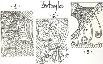 Zentangles 1st try 31Jan08