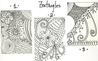 Zentangles 1st try 31Jan08
