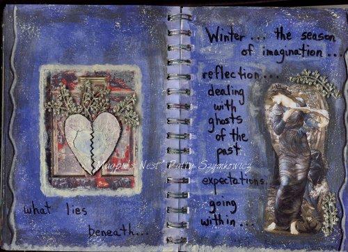 Patty Szymkowicz Winter art journal pages