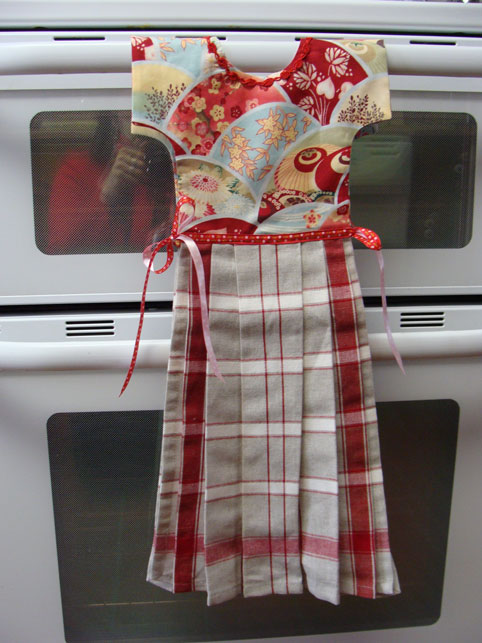 Dress Tea Towel Two Pretty Tea Towels For