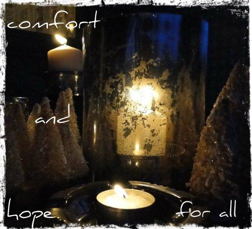 Mercury glass Comfort and Hope