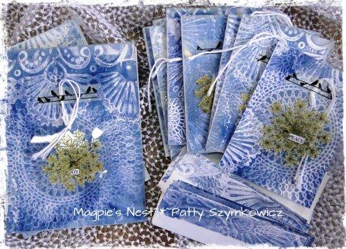 Patty Szymkowicz GelliMonoprint cards