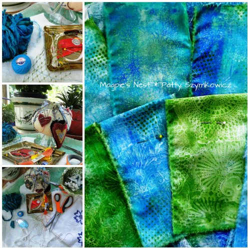 Prayer Flag making collage