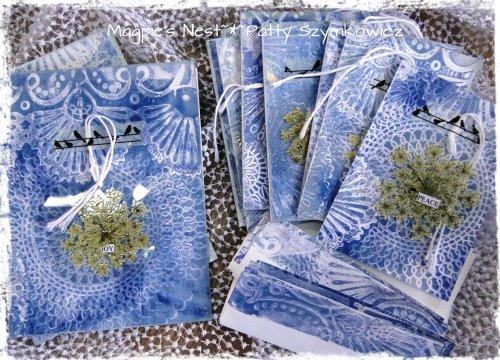 Patty Szymkowicz Gelli Monoprint cards