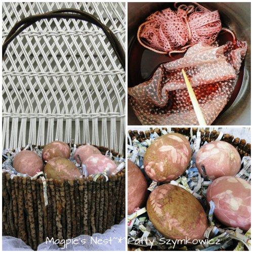 Beet Eggs & Fabric