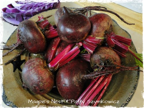 beets ready to be trimmed and cut