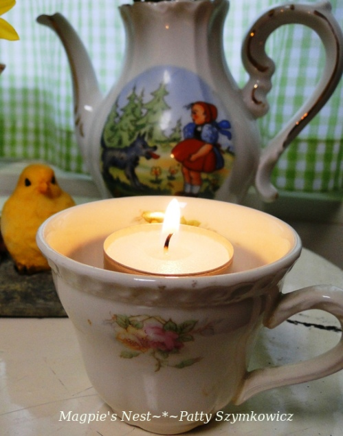 candle lit tea