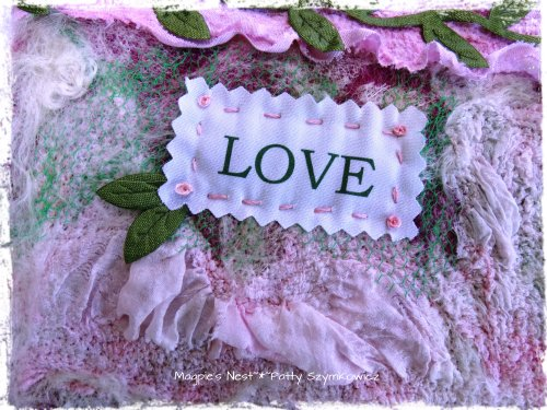 Machine Felted Prayer Flag