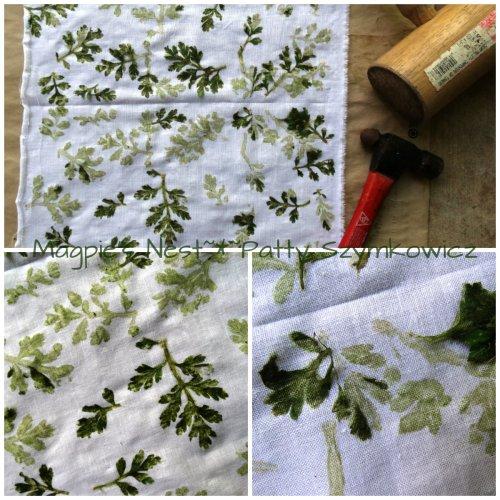 Flower Pounding on Cotton