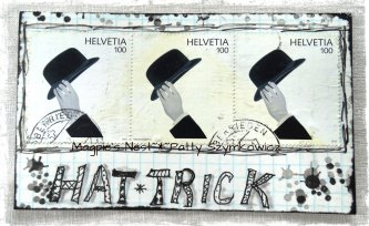 Black n White Hat Trick Swiss Stamps
