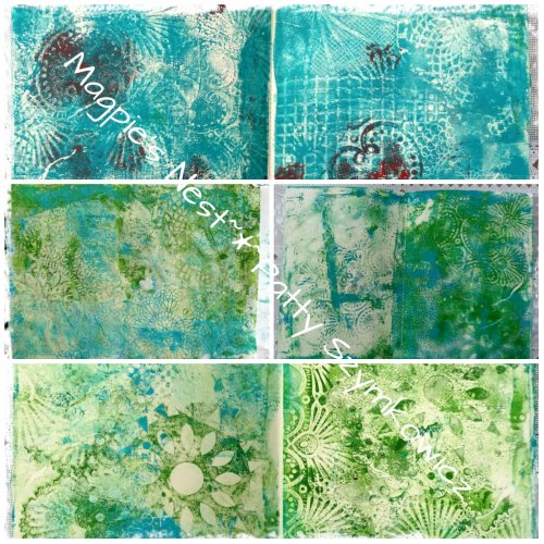 Patty Szymkowicz Monoprint journal BEFORE pages