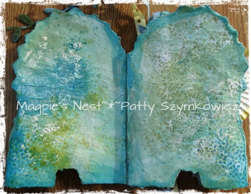 Gelli Print background