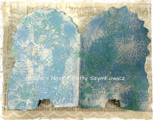 Gelli Printed Boardbook pages