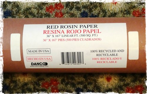 Red Rosin Paper Book Pages...
