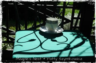 Traveling Tea Cup Gazebo Shadows