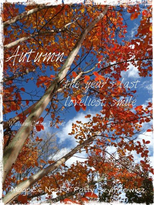 William Cullen Bryant Autumn quote