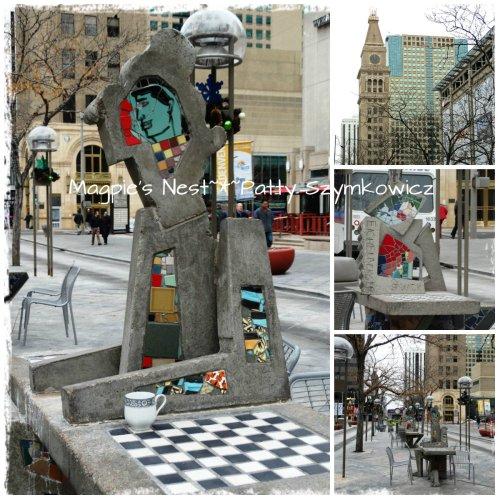 Denver street mosaic game boards