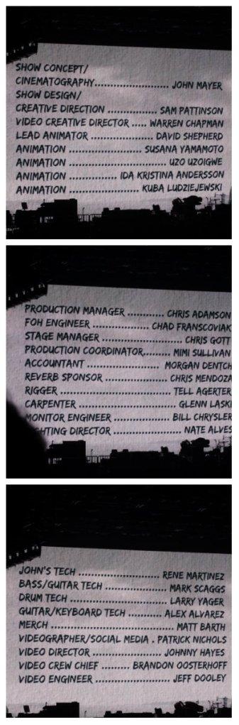 John Mayer Credits 2