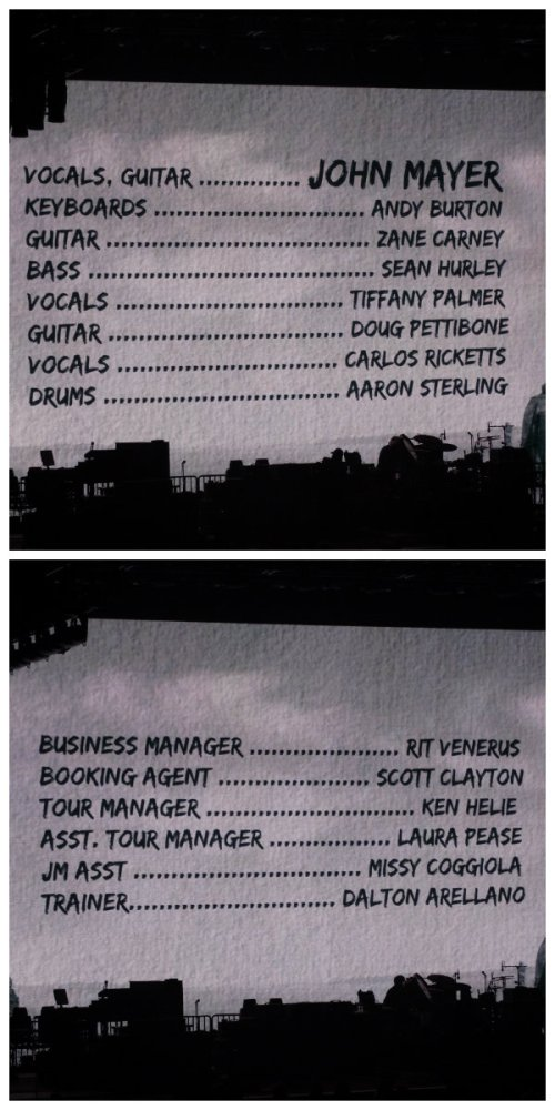 John Mayer Credits