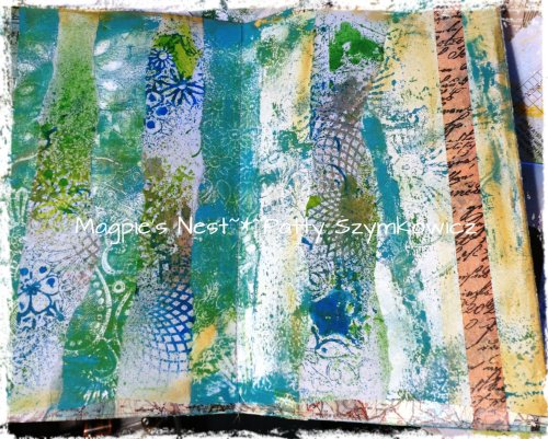 Gelli print pages and paper Before