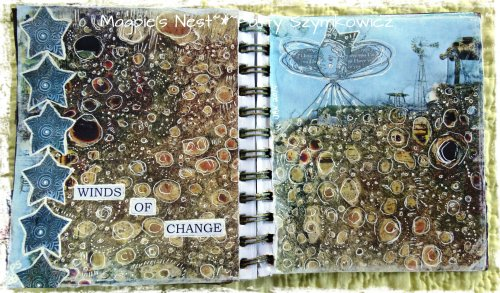 Winds of Change Art Journal Pages (2)
