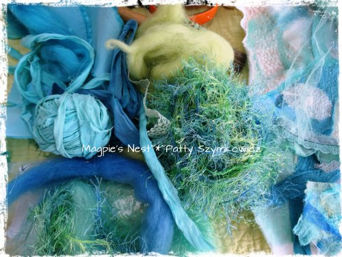 wool sari ribbon fibers fabric