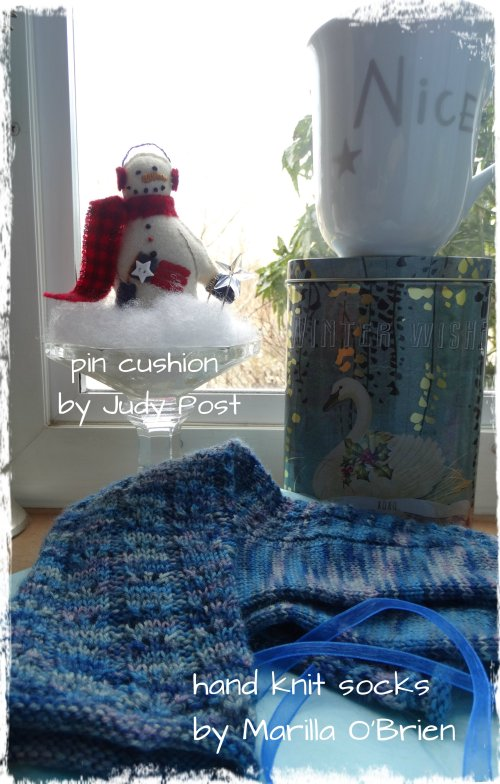 Judy Post Pin Cushion Marilla Knit Socks