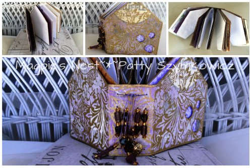 altered chocolate truffle box book