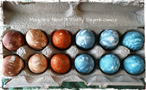 Colored petrified eggs  from 2000