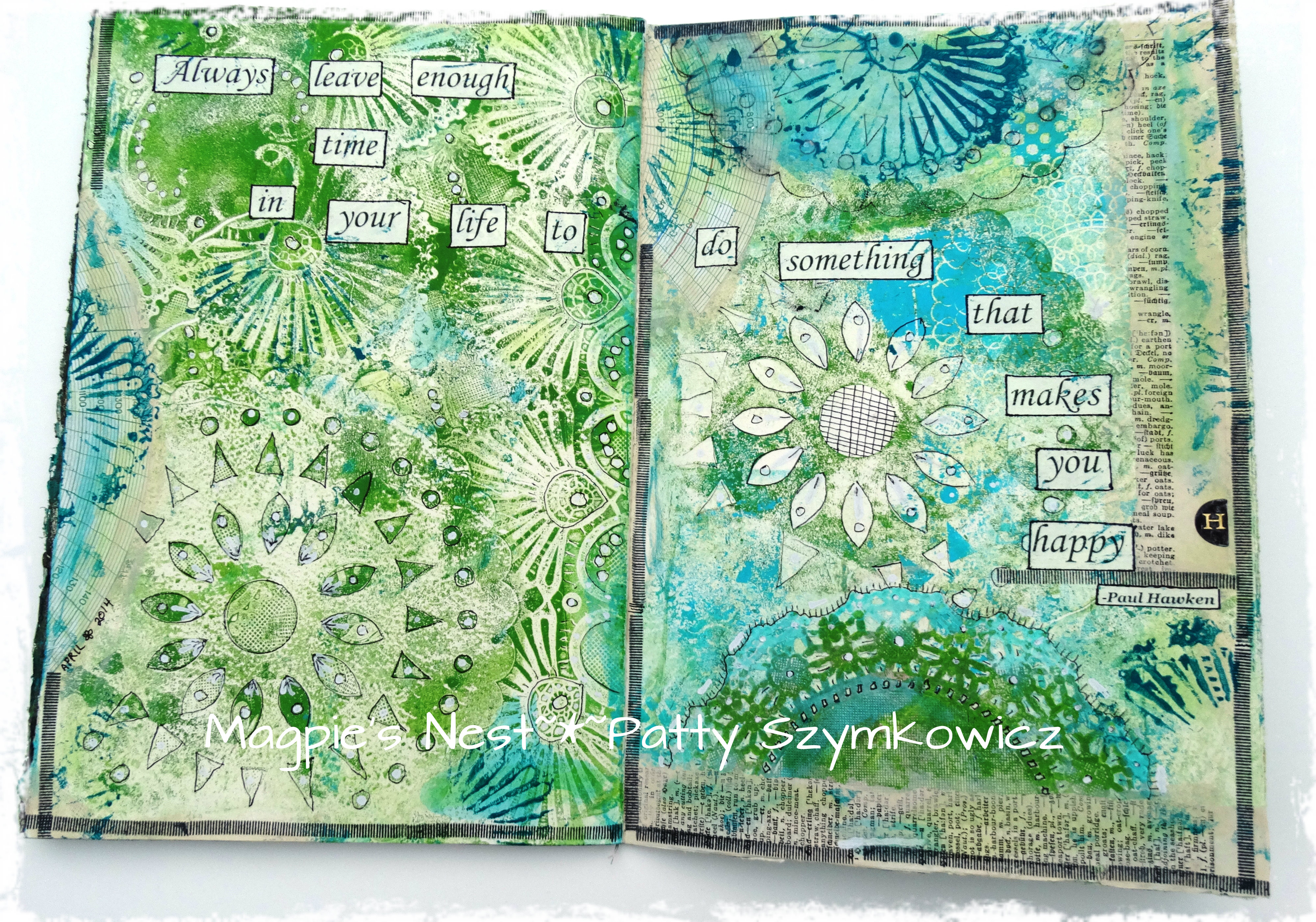 Art Journal Journey Moments Of Happiness Magpie S Nest