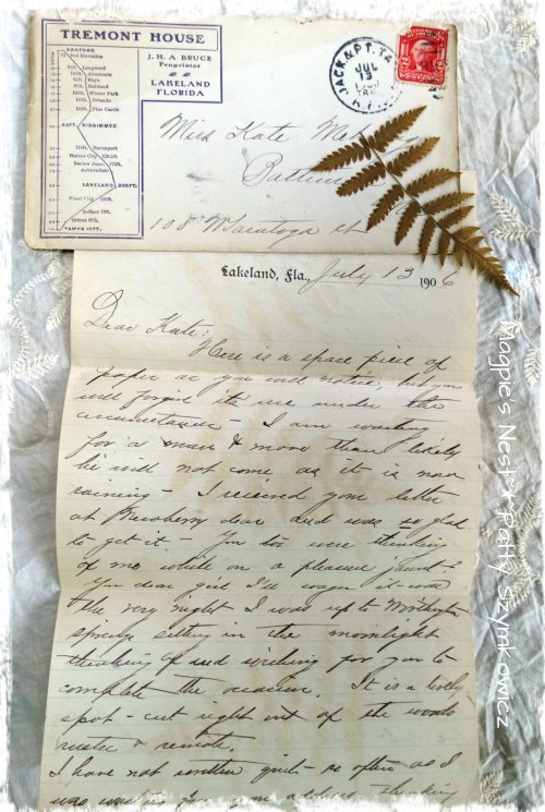 Pressed Fern July 1906