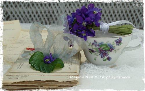 Violet tea cup