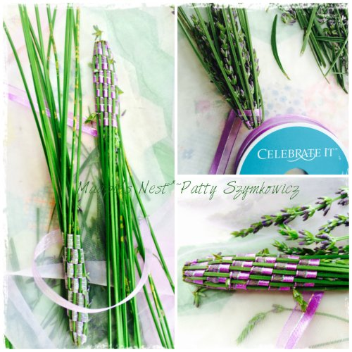 Lavender wand weaving
