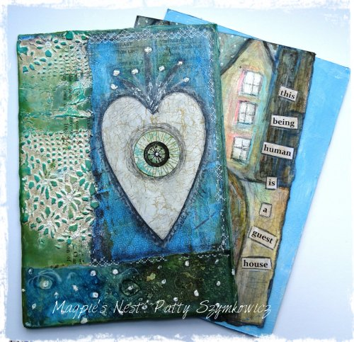 Loose journal pages with Heart Cover