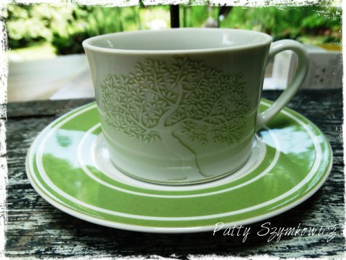 Greek Olive tree cup and saucer