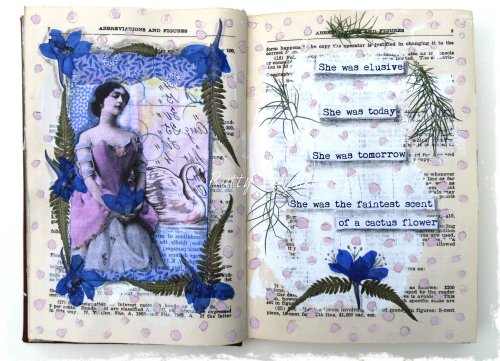 Magpie's Nest Cactus Flower Art Journal Pages (2)