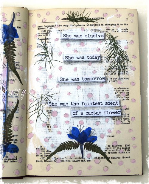 Magpie's Nest Cactus Flower Art Journal Pages