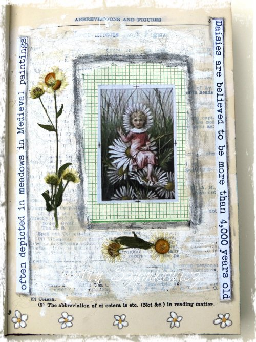Magpie's Nest Daisies Art Journal Pages (1)