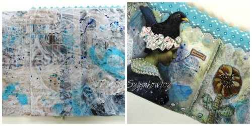 Magpie's Nest Gesso Magazine book pages