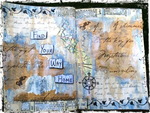 Magpie's Nest Find Your Way Home journal pages
