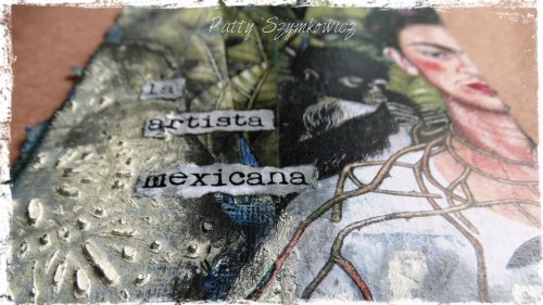 Magpie's Nest Frida Kahlo loose leaf art journal page (1)