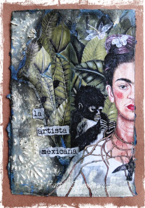 Magpie's Nest Frida Kahlo loose leaf art journal page