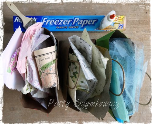 Magpie's Nest Fusion Fabric Paper supplies