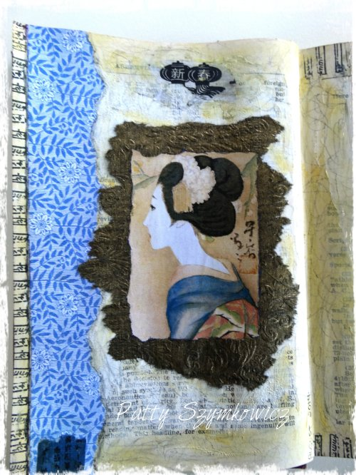 Magpie's Nest Geisha art journal page