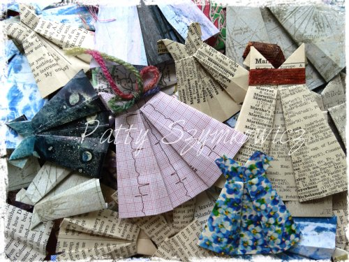 Magpie's Nest Origami Paper Dresses (1)