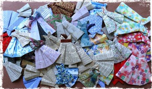 Magpie's Nest Origami Paper Dresses