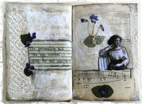 Magpie's Nest While the soul whispers art journal pages