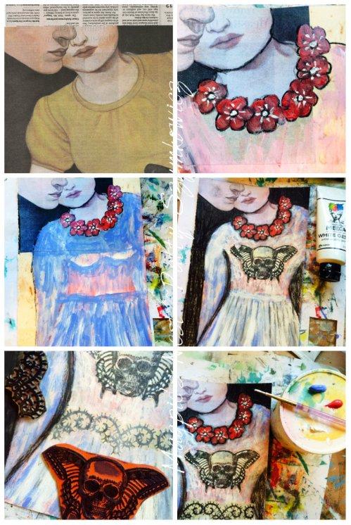 Patty Szymkowicz Frida and Diego collage