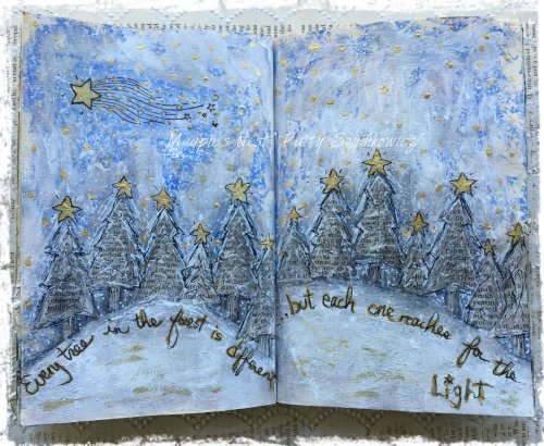Every tree in the forest art journal pages